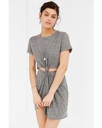 Honey Punch Knot Front T Shirt Dress