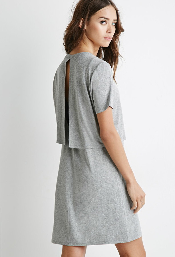 f1277a040791 Forever 21 Layered Cutout T Shirt Dress, $12 | Forever 21 ...