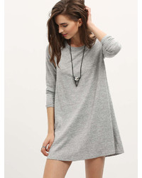 Romwe Long Sleeve Casual Dress