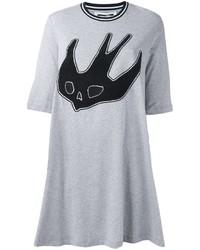 Mcq alexander mcqueen swallow patch t shirt dress medium 807988