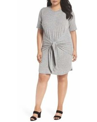 Caslon Off Duty Tie Front Knit Dress