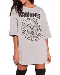 Missguided Ramones T Shirt Dress