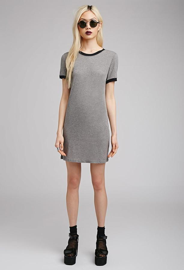 05b008e602d328 Forever 21 Ringer T Shirt Dress, $15 | Forever 21 | Lookastic.com