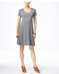 Style&co. Style Co Petite Short Sleeve A Line Dress Created For Macys