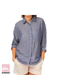 Quiksilver womens azalea shirt chambray medium 279592