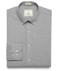 Todd Snyder White Label Fulton Chambray Dress Shirt In Grey