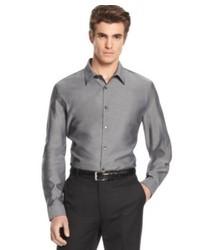Calvin Klein Shirt Core Long Sleeve Slim Fit Chambray Shirt