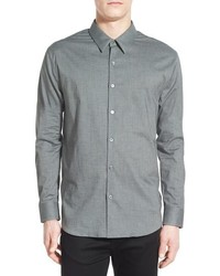Flannel chambray sport shirt medium 790735