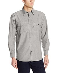Key Apparel Performance Comfort Long Sleeve Chambray Shirt