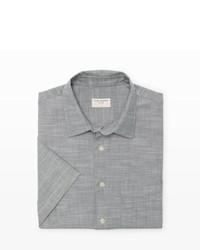 Club Monaco Short Sleeve Chambray Shirt