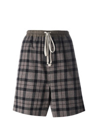 Rick Owens Checked Shorts