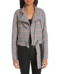 Adeam Asymmetrical Tweed Moto Jacket