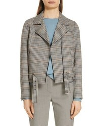 Nordstrom Signature Check Moto Jacket
