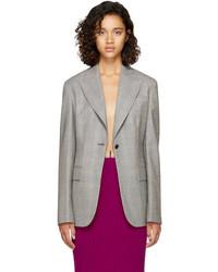 Calvin Klein 205w39nyc Grey Glen Check Blazer