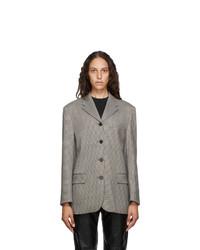 Andersson Bell Brown And Black Houndstooth Four Button Blazer