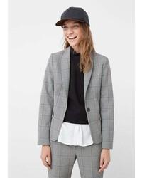 Mango Outlet Check Suit Blazer