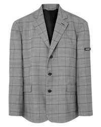 Balenciaga Prince Of Wales Checked Cady Blazer