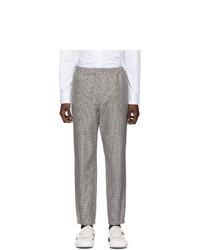 Kenzo Black And Beige Cropped Jog Trousers