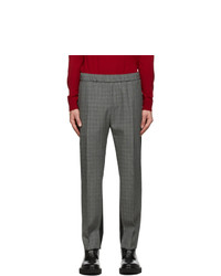 Givenchy Black And Grey Wool Trousers
