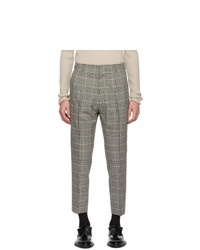 AMI Alexandre Mattiussi Black And Off White Prince Of Wales Trousers