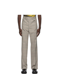 Marni Grey Recycled Check Trousers