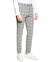 Topman Skinny Fit Check Trousers