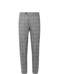 Mr P. Slim Fit Checked Cotton Blend Cropped Trousers