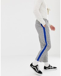 ASOS DESIGN Tapered Smart Trouser In Prince Of Wales Check With