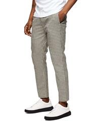 Topman Whyatt Stretch Skinny Fit Check Jogger Pants