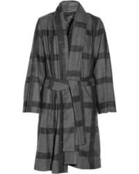 Vivienne Westwood Anglomania Bridge Oversized Checked Wool Blend Fleece Coat