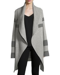 Burberry Check Open Front Coat Cardigan