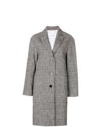 Calvin Klein Check Patterned Coat