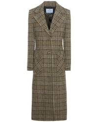 Prada Check Virgin Wool Coat