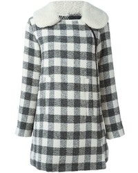 See by chloe see by chlo checked short coat medium 1315611