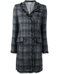 Thom Browne Windowpane Check Tweed Coat