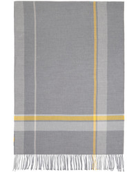 Acne Studios Grey Check Cesar Blanket Scarf