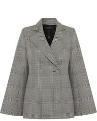Boycott prince of wales checked wool blazer gray medium 6870501
