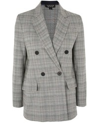 Checked double breasted blazer medium 5269363