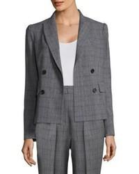 Rebecca Taylor Checked Wool Blazer