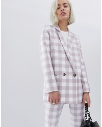ASOS DESIGN Large Gingham Suit Blazer