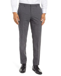 BOSS Genesis Patterned Slim Fit Pleated Wool Dress Pants