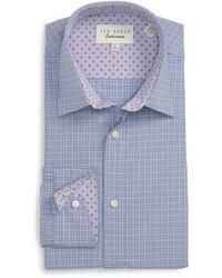 Ted Baker London Goran Trim Fit Check Dress Shirt