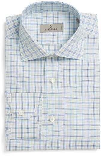 aedf726c227 ... Canali Regular Fit Check Dress Shirt ...