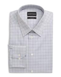 Emporio Armani Trim Fit Windowpane Dress Shirt