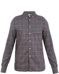 Saturdays Nyc Crosby Windowpane Check Flannel Shirt