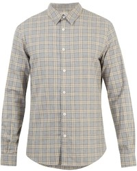 Ditions Mr St Germain Checked Cotton Flannel Shirt