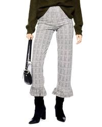 Topshop Betty Frill Hem Crop Trousers