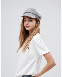 Stradivarius Check Baker Boy Hat