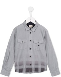 Armani Junior Faded Check Print Shirt