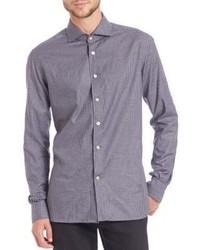 Kiton Check Cotton Sportshirt